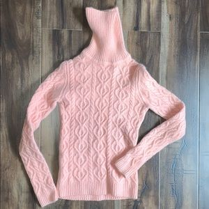😍THE LIMITED Pink Cable Knit Turtleneck Top😍